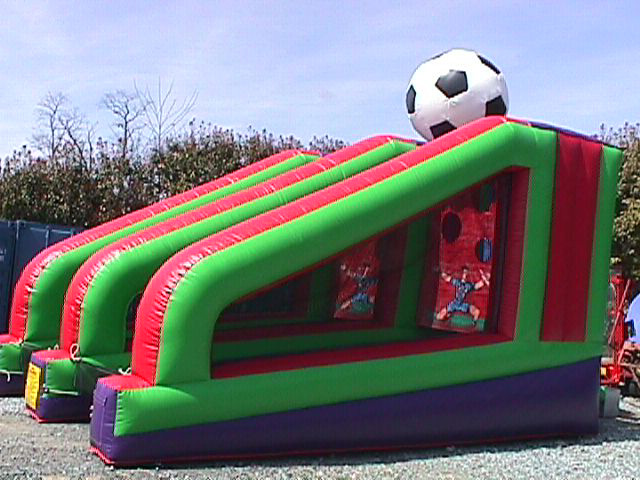 Side view of Inflatable PK Soccer Shootout