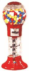 TALL FREESTANDING GUMBALL MACHINE
